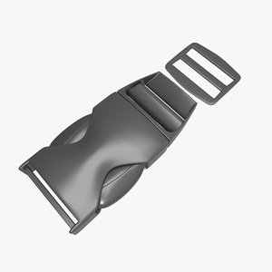 buckle modeled 3d model