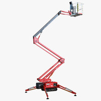 Telescopic Boom Lift Red Rigged