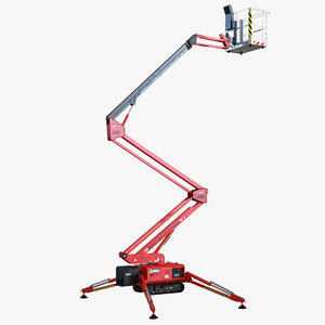 telescopic boom lift red max
