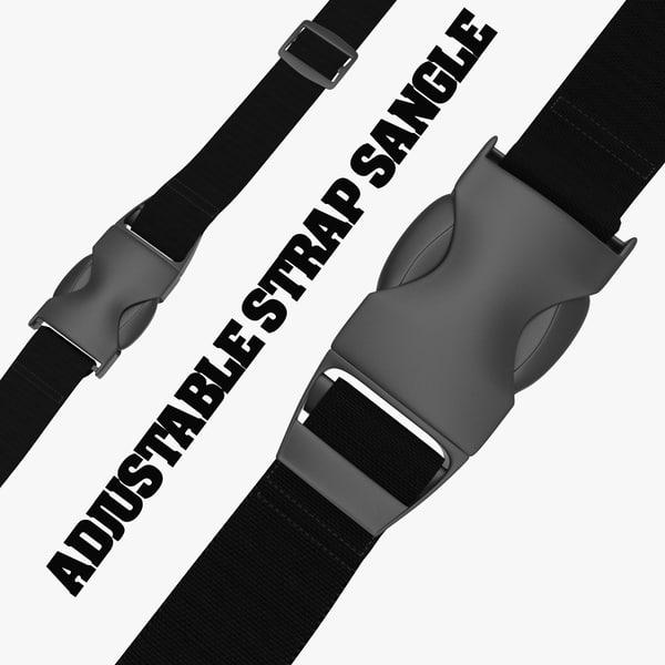 3ds max adjustable strap sangle