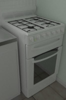 3d model gas oven