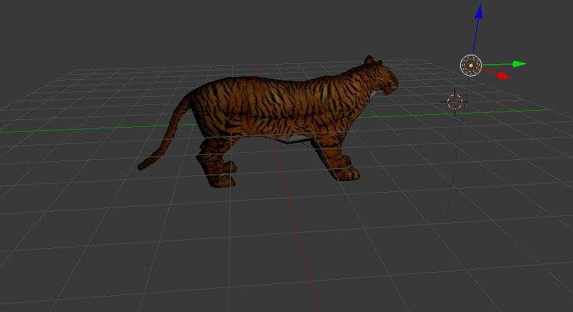 tiger animation blend