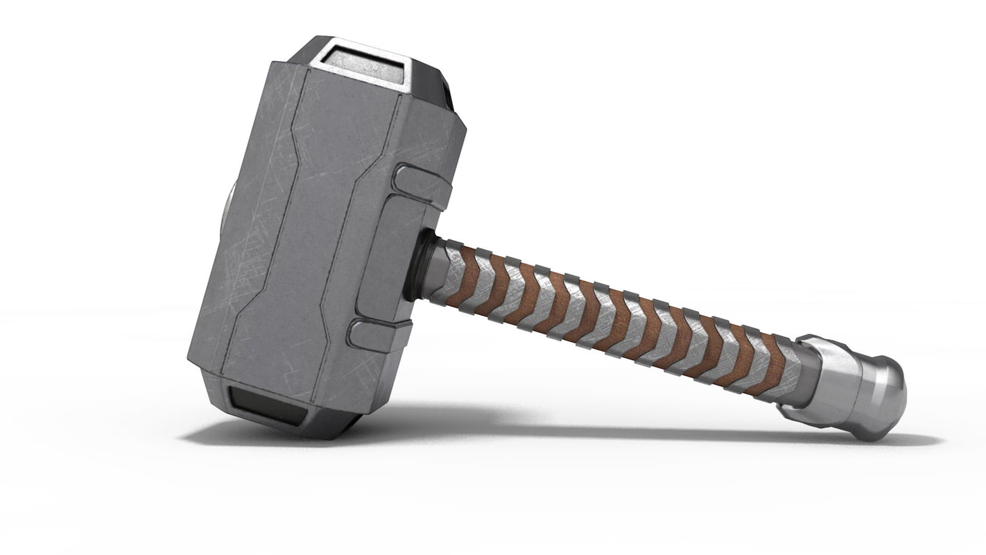 large thors hammer 3d c4d