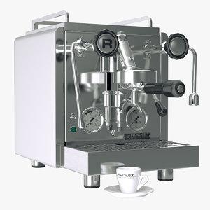 3d model of realistic espresso maker rocket