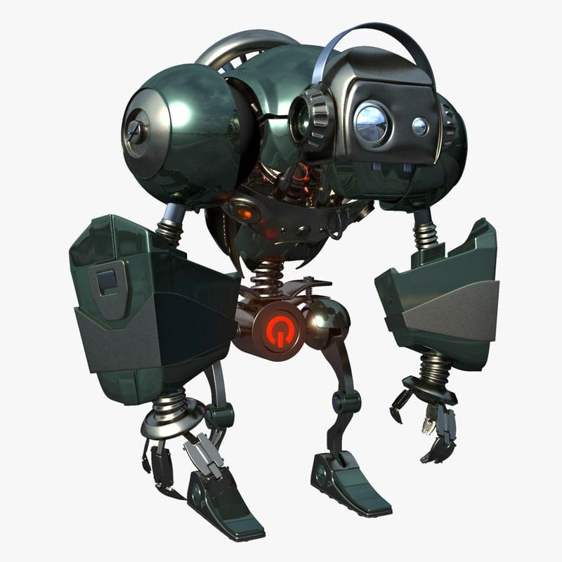 3d obj robot humanoid