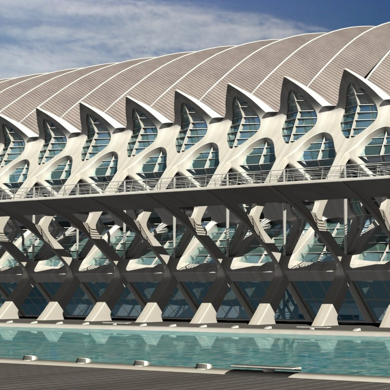 science museum calatrava 3d fbx