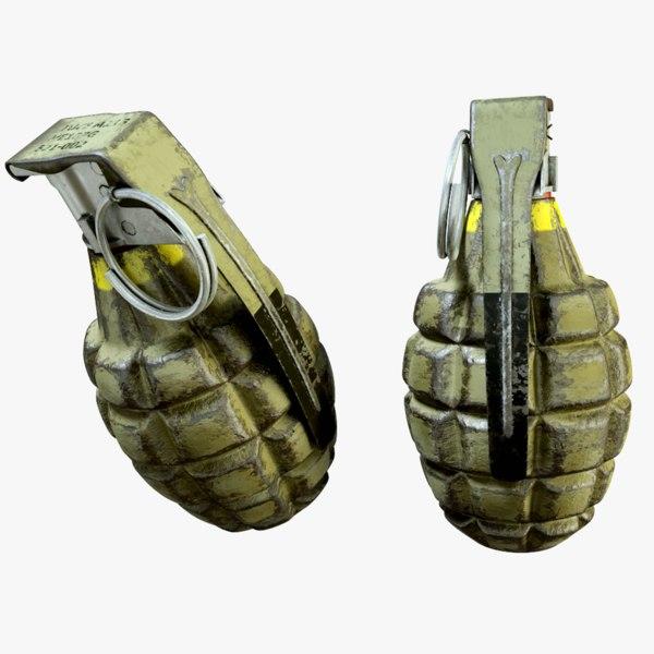 ready grenade hand