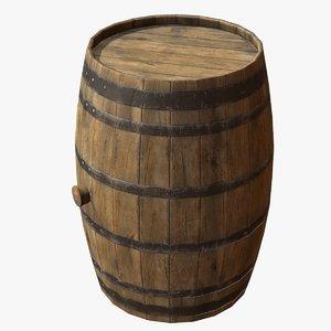 3dsmax wooden barrel
