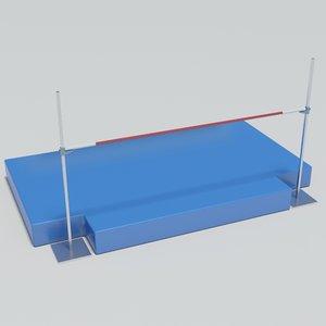 3d model athletics jump