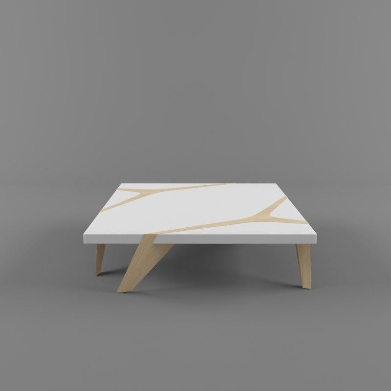 3d model roche bobois coffee table