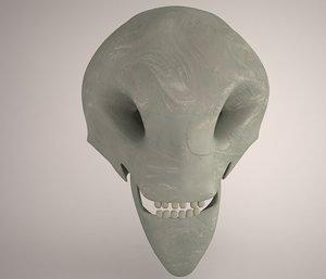3ds alien skull