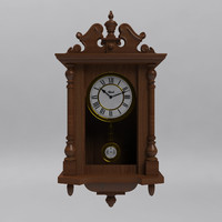 3d model hermle 70091-030141 wall clock