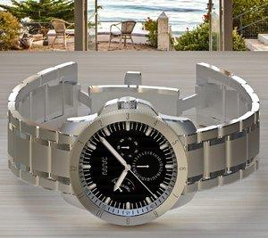 watch metal bracelet 3d model