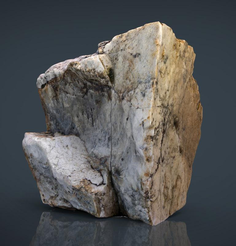 3ds max rock 1