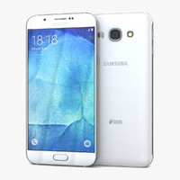 3d model samsung galaxy a8 pearl