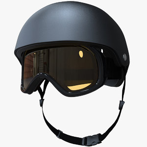 c4d skiing helmet mask