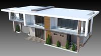 house modern 3d model