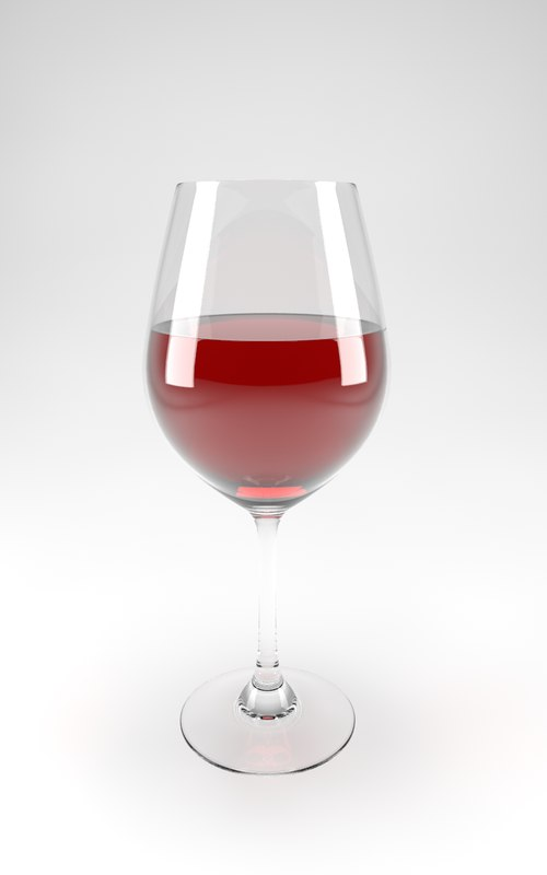 c4d red wine glass