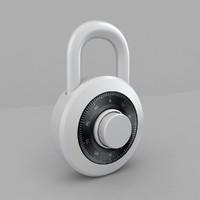 padlock pad lock 3d model