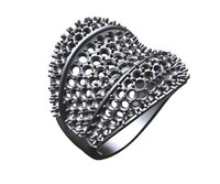 wave ring pave 3ds