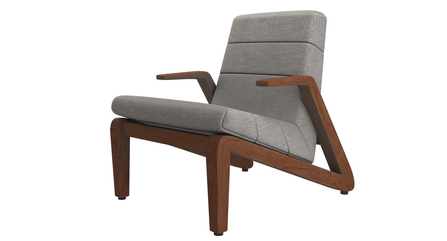 3d rolf benz armchair model
