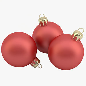 christmas ball red obj
