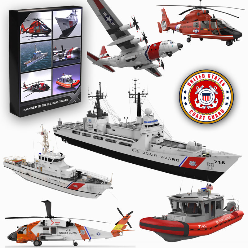 3d coast guard s patrol model