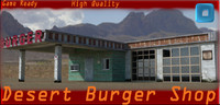 3d desert burger shop model