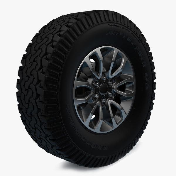 raptor svt f-150 wheel 3d max