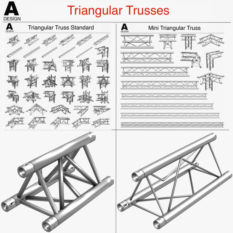 3d triangular trusses 002 55 model