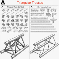 3d triangular trusses 002 55 model