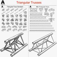 Triangular Trusses 002 (55 Modular Pieces)