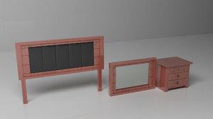 3d model furniture bedroom bed