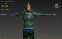 soldier rigged 3d max