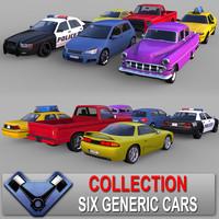3d generic cars 02 sedan