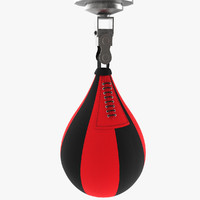 leather speed punching ball c4d