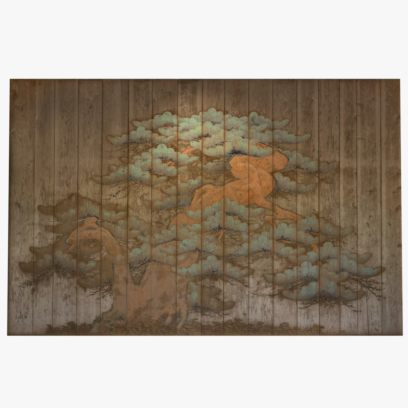 ancient asian mural 3ds