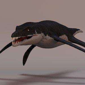 liopleurodon rigged 3d model