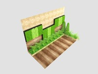 vertical garden 3d max