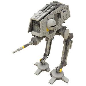 lego starwars at-dp 3d model