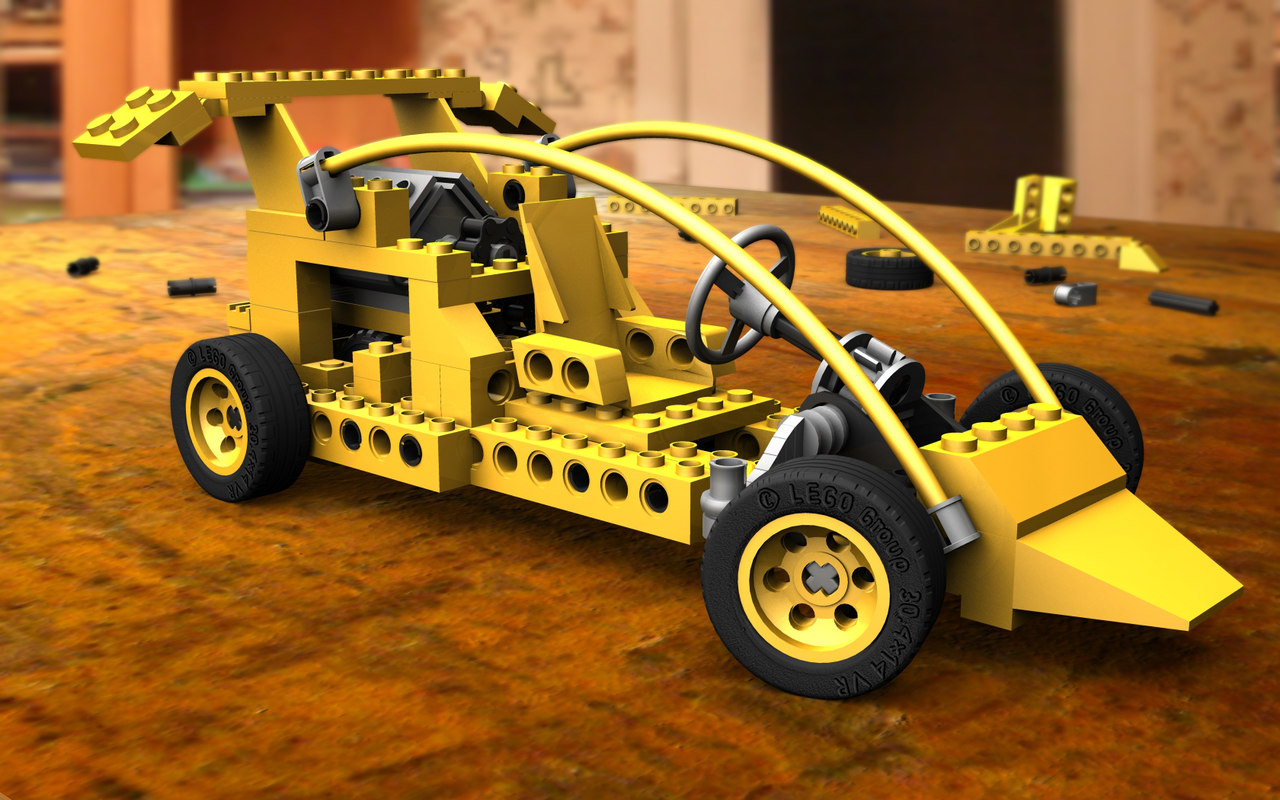 3d model lego toy car
