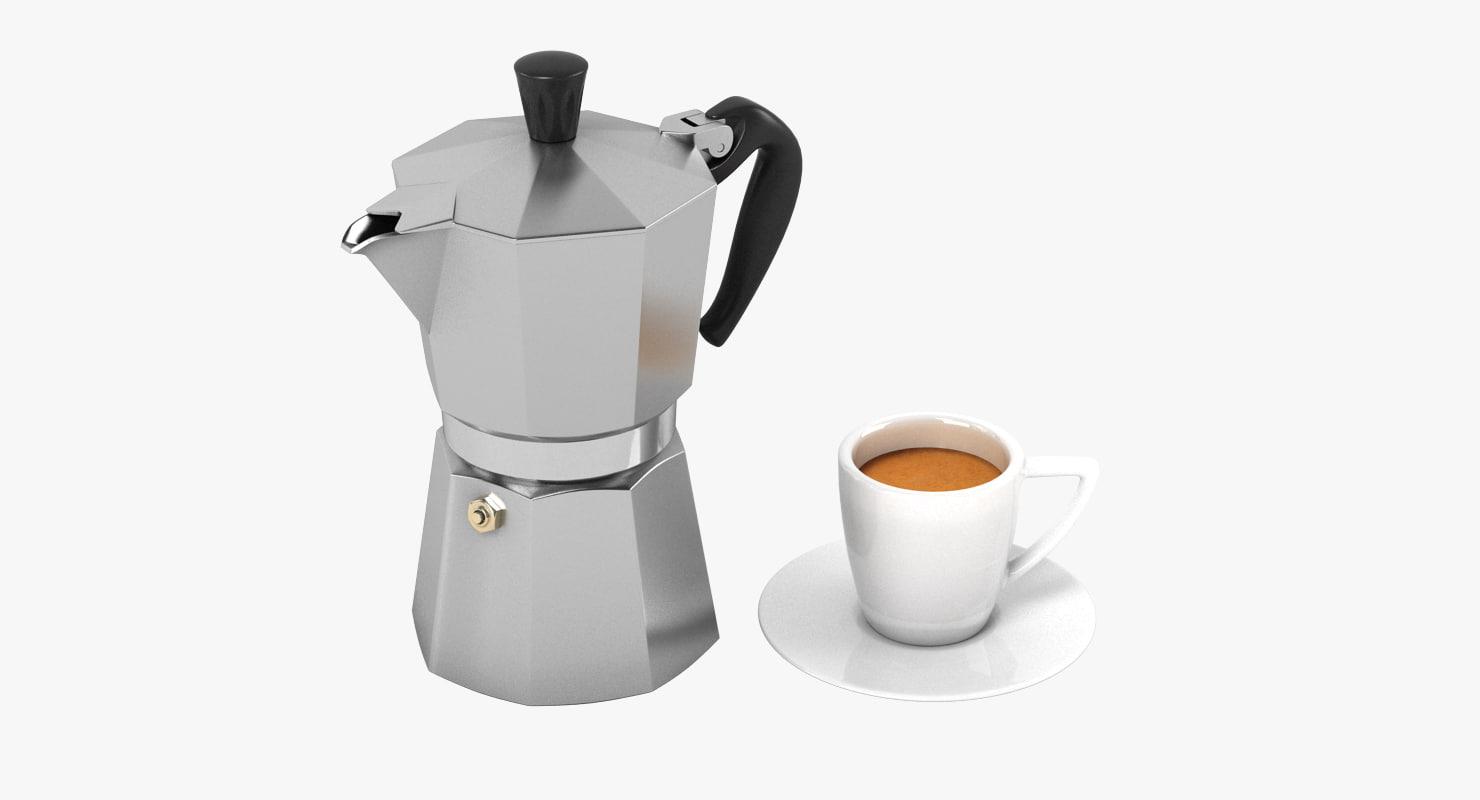 espresso set 3d model