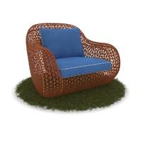 max wicker armchair