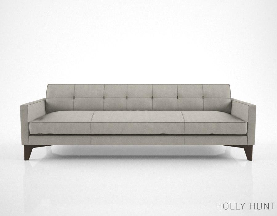 holly hunt montgomery sofa 3d model