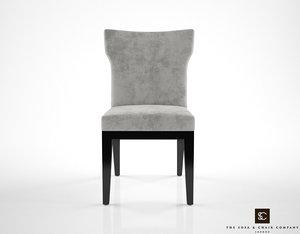 3d model sofa chair company dahlia