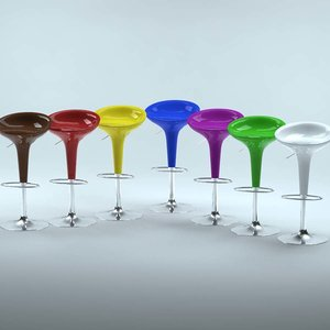 3d swivel bar stool model
