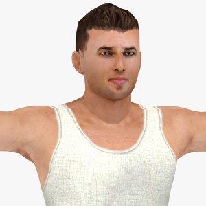 bodybuilder boy rigged 3ds