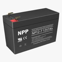 12 Volt Battery 3D Model