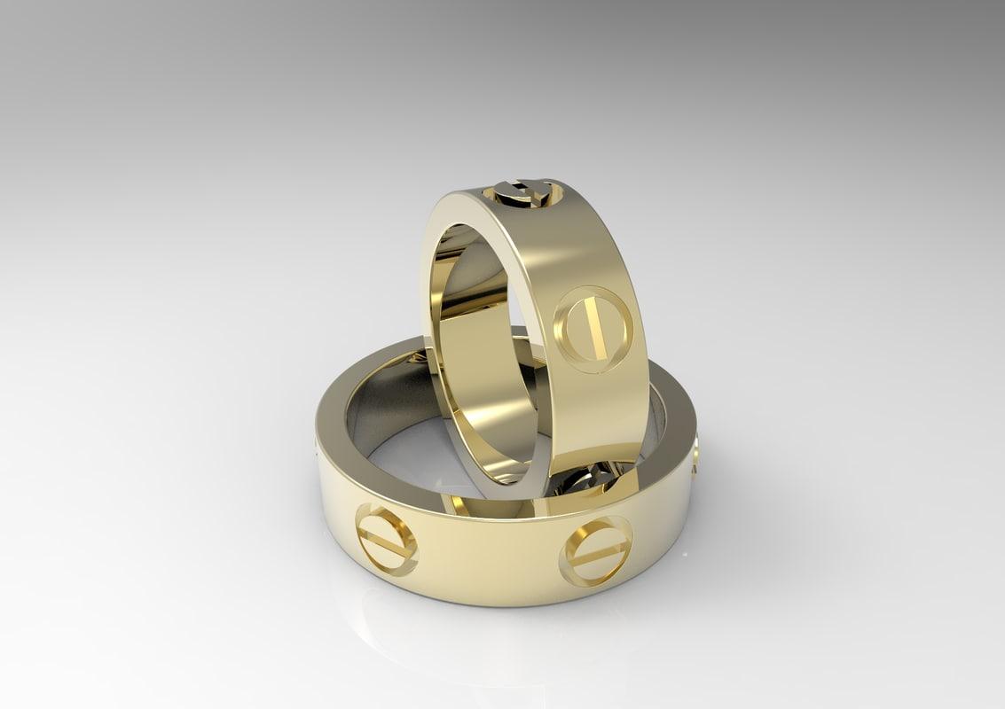 set ring simple 3d model
