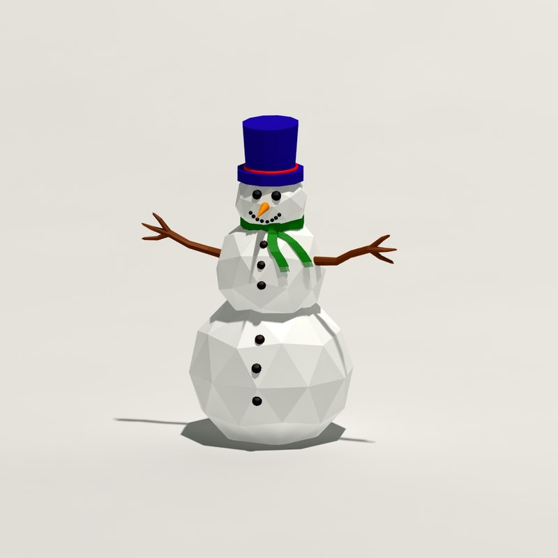 3ds cartoon snowman